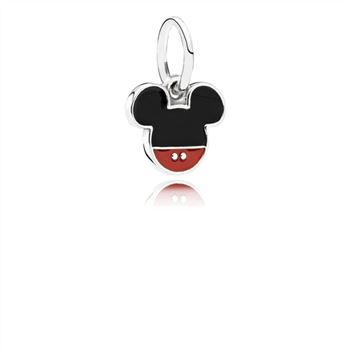 Pandora Disney, Mickey Icon Dangle Charm, Mixed Enamel 791461ENMX