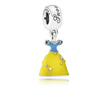 Pandora Disney, Snow White's Dress Dangle Charm, Mixed Enamel 791579ENMX