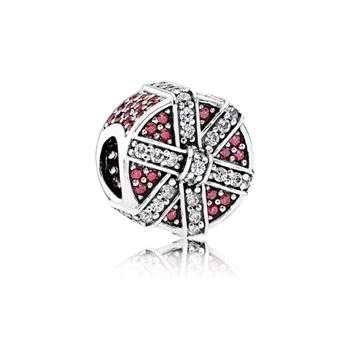 Pandora Shimmering Gift Charm, Red & Clear CZ 792006CZR