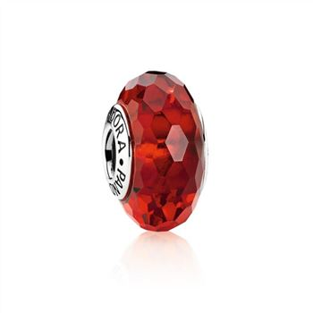 Pandora Fascinating Red Charm, Murano Glass 791066