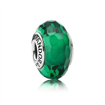 Pandora Fascinating Green Charm, Murano Glass 791619