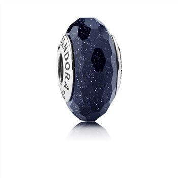 Midnight Blue Stardust Murano Charm 791628